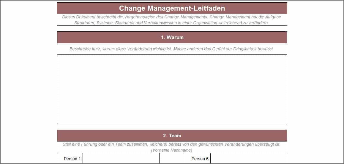 Change Management-Leitfaden