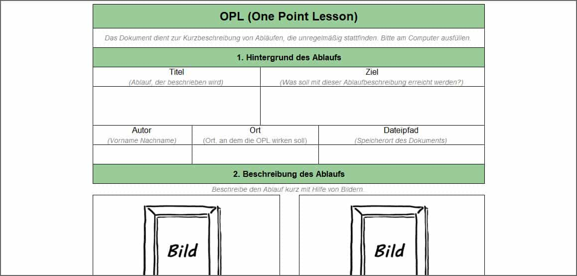 OPL (One Point Lesson)