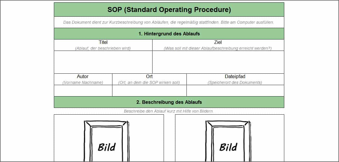 SOP (Standard Operating Procedure)